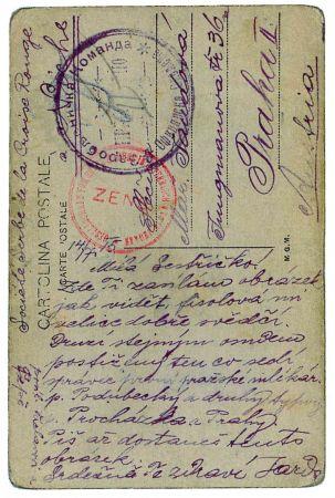 Foto červenec 1915, přední strana