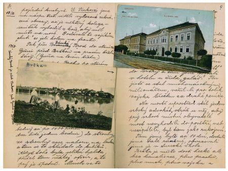 Ukázka z originálu pamětí. Příjezd na srbskou frontu
