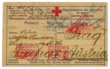 Červen 1916 Asinara, přední strana