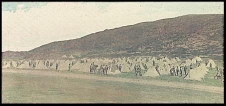 Fotografie zajateckého tábora Perdu na Asinaře, fotografováno v červnu 1916 Pietrem Sandreskym
